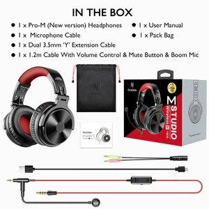 Image 5 - Беспроводная гарнитура Oneodio 80h, Bluetooth 5,0, проводные Игровые наушники с микрофоном для ПК, PS4, колл центра, офисные наушники для Skype