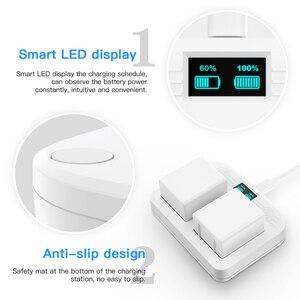 Image 4 - Pil şarj cihazı istasyonu ile uyumlu Arlo Ultra 4k Arlo Pro 3 kamera çift şarj istasyonu LED ekran