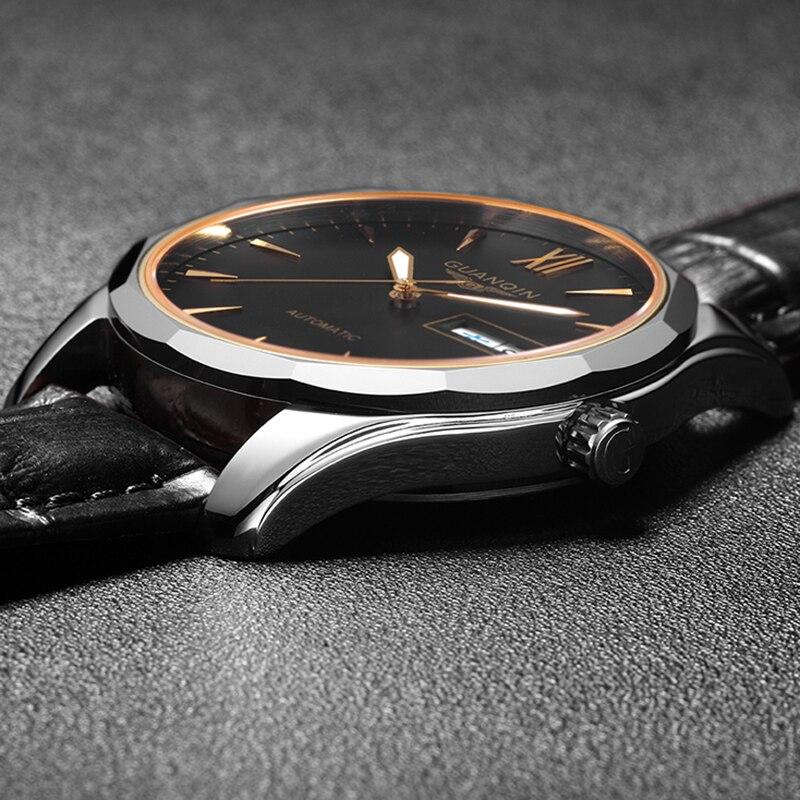 GUANQIN Automatische Mechanische männer Uhr Japan NH36 bewegung Sapphire uhr männer Leuchtende uhr wasserdicht datum SaRelogio Masculino - 5