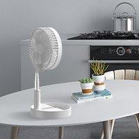 White Four-speed Portable Storage Stretchable Electric Home Desktop Desktop Landing One Foldable Portable Travel Small Fan ICOCO