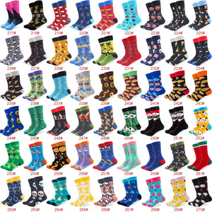 Image 5 - 100 Pairs/lot Wholesale Men Colorful Striped Cartoon Combed Cotton Socks High Quality Crew Wedding Casual Happy Funny Sock Crazy