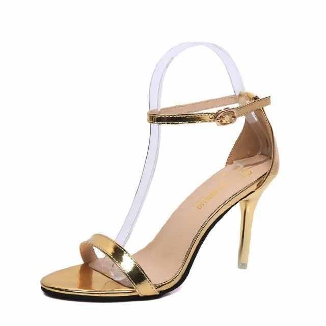 รองเท้าส้นสูงผู้หญิงปั๊มสายรัดข้อเท้ารองเท้าแตะรองเท้าผู้หญิงLadies Pointed Toeรองเท้าส้นสูงรองเท้าPartyรองเท้าขนาดใหญ่ 2020