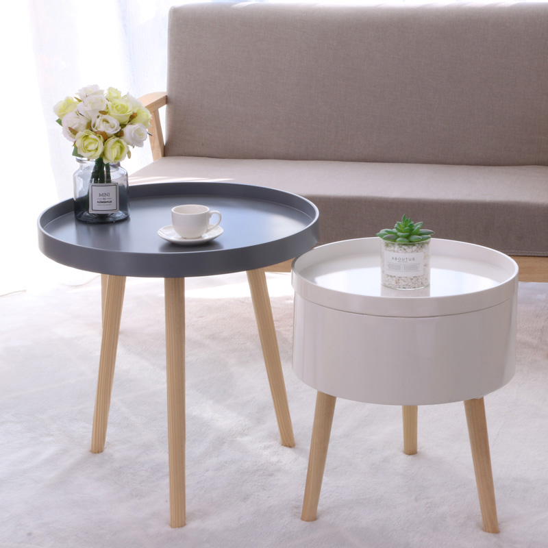 Creative small round table, Japanese sofa, floating side table, simple tea table mini-bedroom