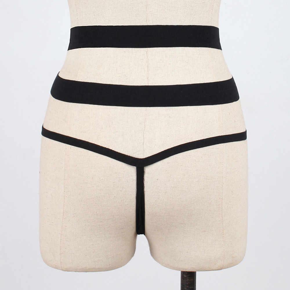 Femmes Sexy string tongs Lingerie slips mode croix pansement culotte de sous-vêtements T string tongs ropa intérieur femenina 2020