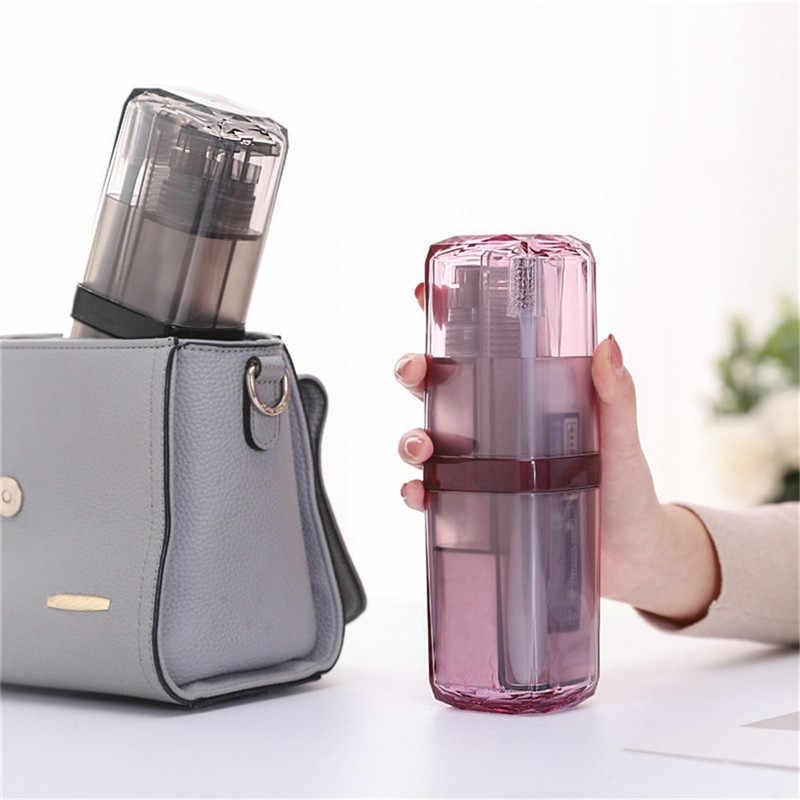 3 styl podróży kubek do mycia przenośny podróży zestaw kosmetyków pasta do zębów szczoteczka do zębów partycji pudełko do przechowywania na zewnątrz zestawy akcesoriów łazienkowych