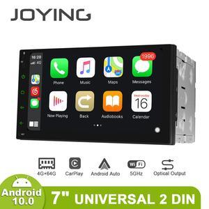 Image 1 - JOYING 2 din head unit car radio player GPS Navigation universal stereo multimedia 4GB+64GB support 4G/Carplay/Reverse camera BT