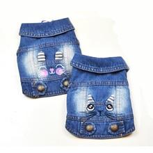 Dog Denim Vest Puppy-Jeans Small Dachshund Cowboy Perro Kitten-Design Cat 3D for Medium