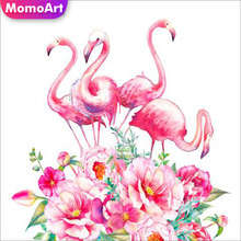 MomoArt 5D Full Drill Square Damond Painting Animal Diamond Embroidery Flamingo Cross Stitch Decorations For Home