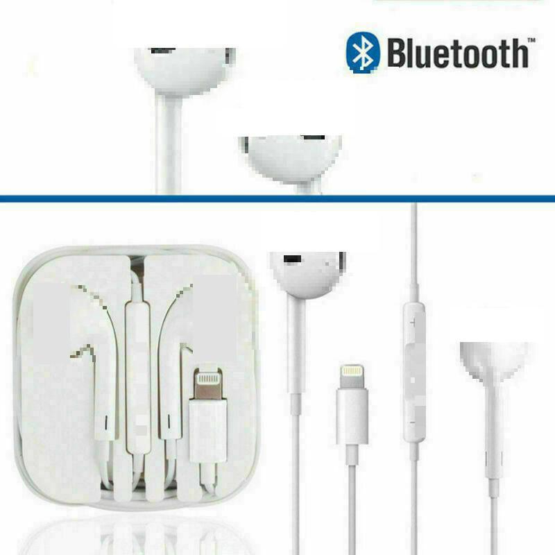 For IPhone 7 In Ear Stereo Earpiece With Microphone Wired Bluetooth Earphone For IPhone 8 Plus X XR XS Max 10 Headset