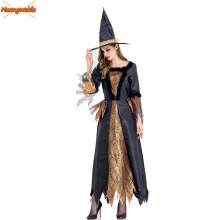 цены Witch Costumes Black Queen Halloween Clothes Sexy Horror Witch Dresses Halloween Costumes For Women Scary Ghost Demon Costumes