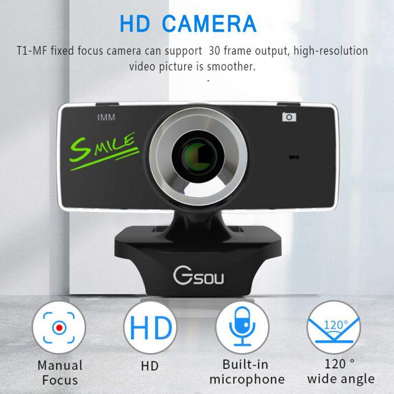USB 2.0 HD Webcam Camera Web Cam With Mic Microphone For Computer PC Laptop Tab Conference Webcast Drop Ship