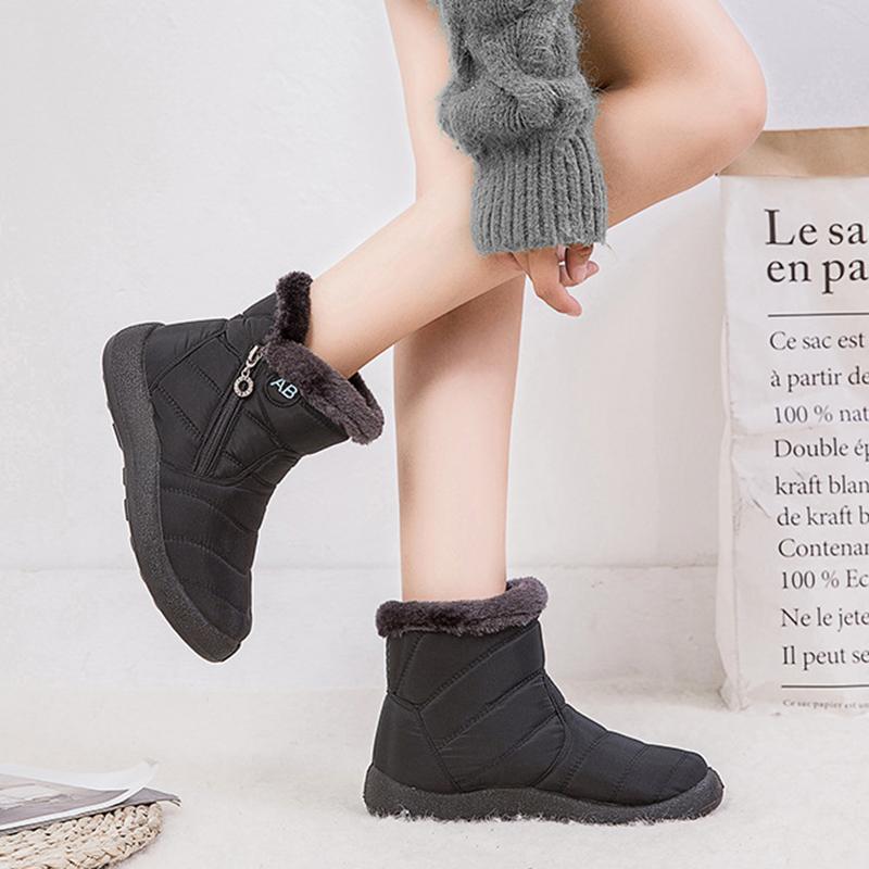 Warm Plush Waterproof Woman Snow Boots