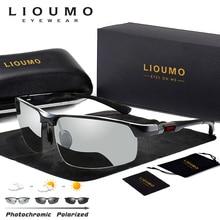 LIOUMO Photochromicแว่นตากันแดดผู้ชายPolarized Chameleonแว่นตาชายเปลี่ยนสีSunแว่นตาNight Visionแว่นตาขับรถ