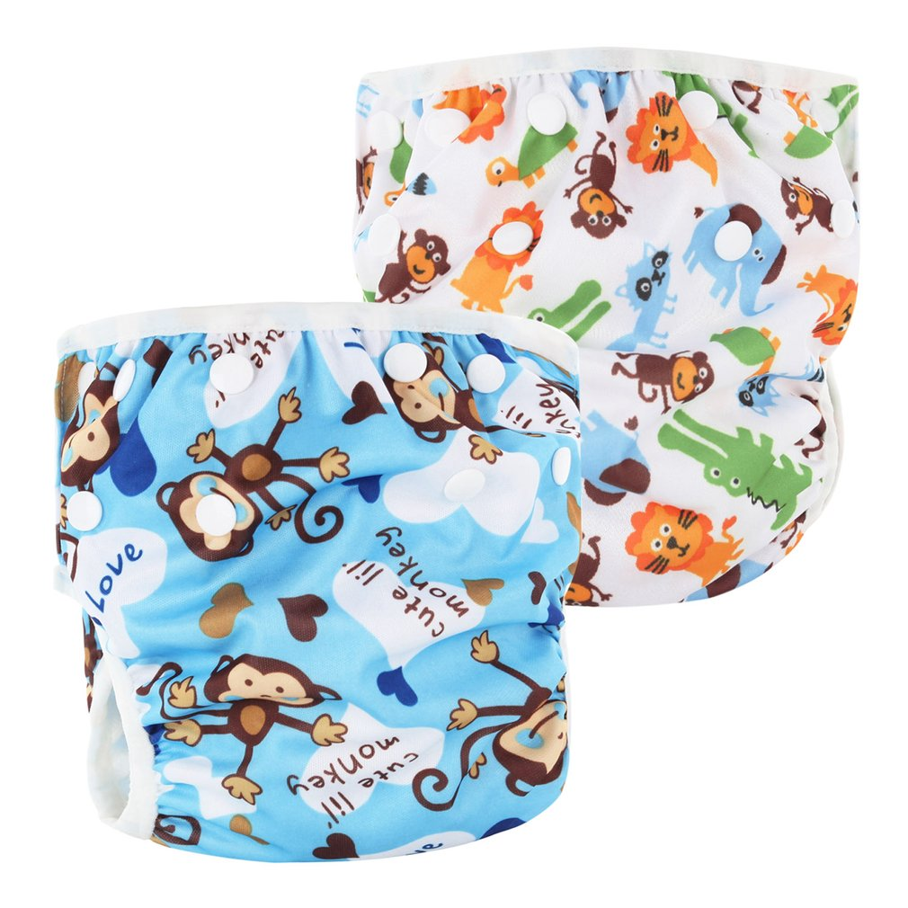 Baby Swim Diaper Waterproof Adjustable Cloth Diapers Pool Pant Swimming Diaper Cover Reusable Washable Baby Nappies
