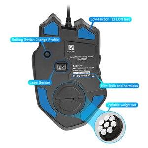 Image 4 - Rocketek USB السلكية الألعاب ماوس 16400 ديسيبل متوحد الخواص 16 أزرار الليزر للبرمجة لعبة الفئران مع الخلفية مريح لأجهزة الكمبيوتر المحمول الكمبيوتر