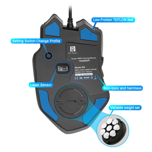 Image 4 - Rocketek USB wired Gaming Mouse 16400DPI 16 buttons laser programmable game mice with backlight ergonomic for laptop PC computer