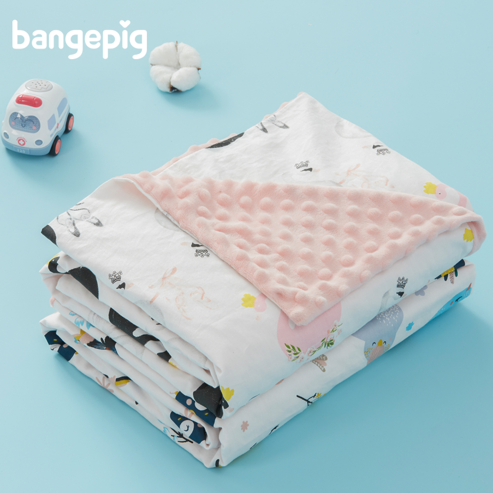 Baby Blanket Cotton Soft Double Layer Warm Cartoon Breathable Newborn Blanket Swaddle Warp Bedding Covers Bubbles