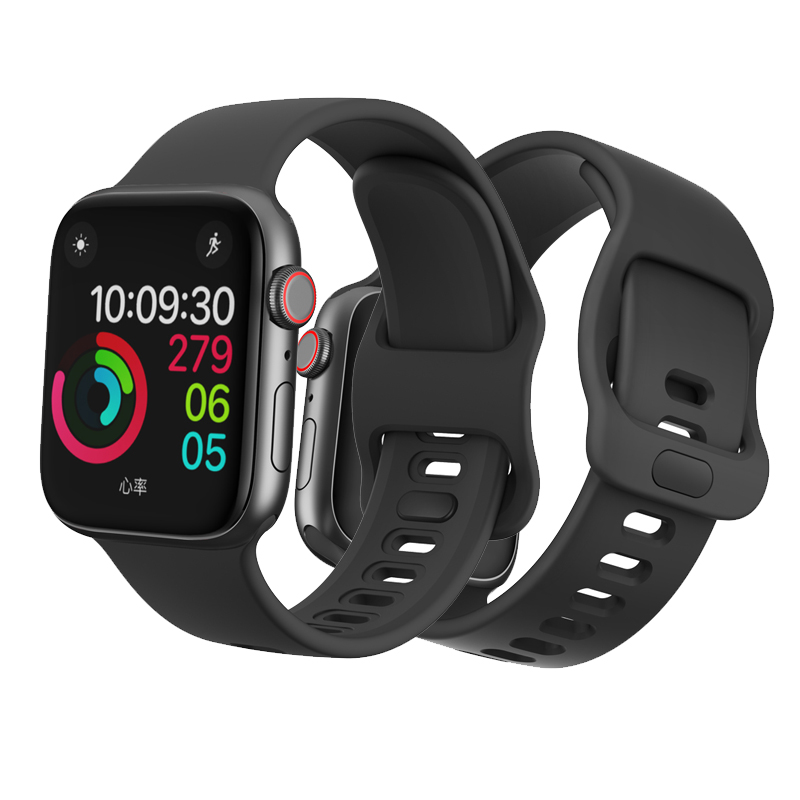 watch accessories strap for Apple watch 5/4/3/2/1 iwatch bracelet apple watch band 44mm 42mm 40mm 38mm Liquid silicone watchband