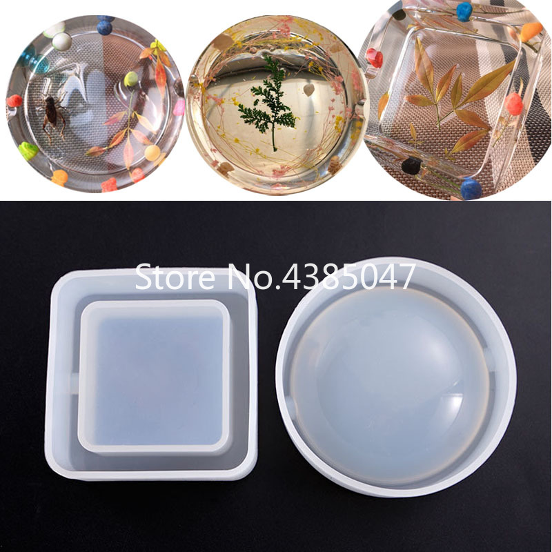 1PC Ashtray Dried Flower Resin Decorative Craft DIY Flower Pot Base Mold Epoxy Resin Molds For Jewelry