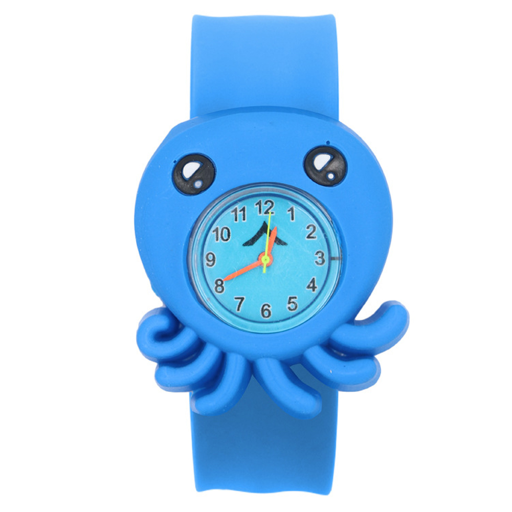 Children Watch Cartoon Pattern Sweet Multi-color Wrist Toys Durable Patted Table Student Silicone Tape 3D Annimals Birthday Gift