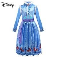 Disney European and American style dresses girls ice romance dress Elsa fashion sweet dress
