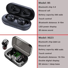 Touch Control TWS 5.0 Bluetooth Earphone Wireless Headphones Handsfree HIFI Stereo Wireless Earbuds Headset With Microphone