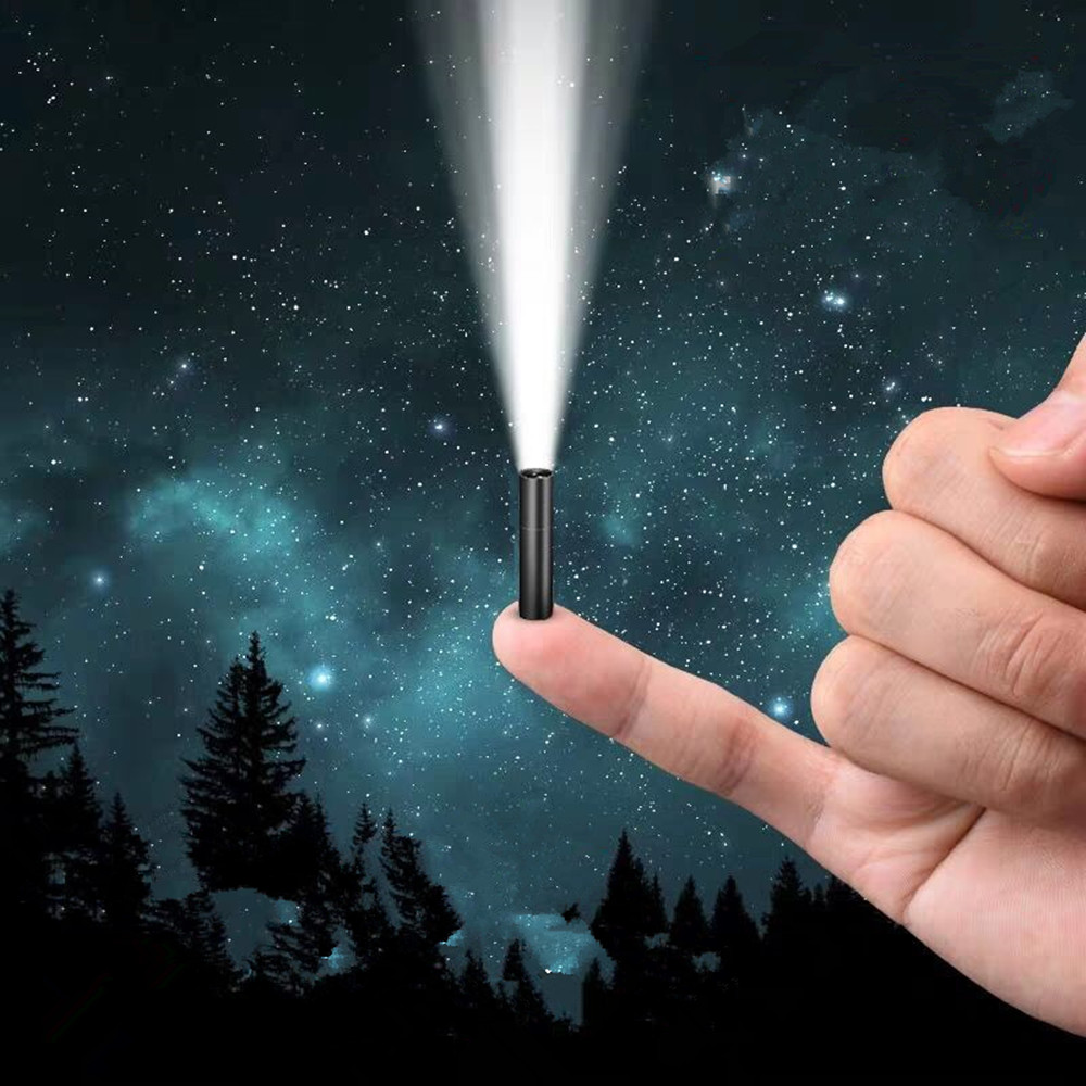Mini Flashlight 14500-Battery Usb Rechargeable Super-Bright with Build 3-Modes