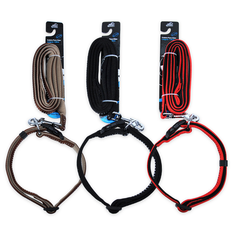 Gold Panda Pet Collar Traction Belt Set Foaming Sling Large And Medium Small Dogs Dog Chain Lanyard