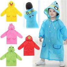 Детская непромокаемая одежда, пальто детское непромокаемое пальто с рисунком животных куртка для маленьких мальчиков и девочек дождевик для детей