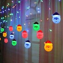 3.5 meters 96 LED Christmas lights Santa Claus fairy outdoor waterproof string bedroom garland