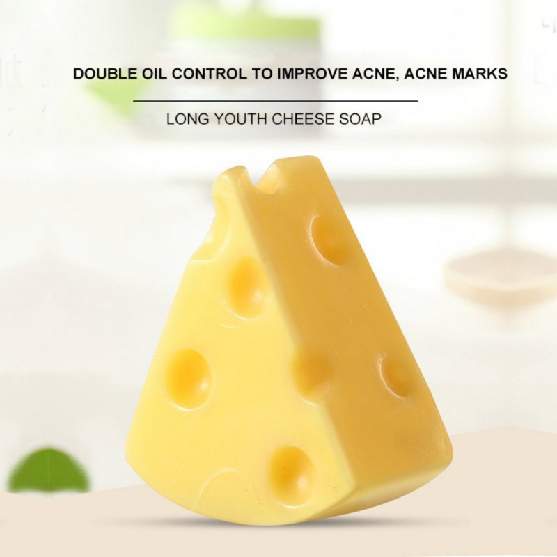 Cheese Soap Brushed Soap Moisturizing Oil-control Anti-mites Anti-acnes Facial Body Cleansing Soap