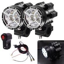 2 個ユニバーサルledオートバイ 7800 lmスポットライト最大 90 ワット電源 12v 9 ランプビーズモトバイクヘッドライト防水霧電球
