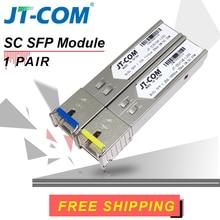 Freies verschiffen! 2 stücke SFP Modul SC Anschluss Gigabit DDM BIDI mini gbic 1000 Mbps SC SFP Lichtwellenleiter Transceiver Otdr Optisches tranceiver modul 5-120 km Kompatibel mit Mikrotik Cisco TP-Link Switch