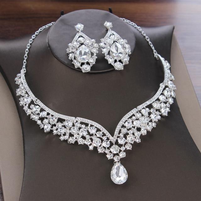 Baroque Crystal Bridal Jewelry Set 5
