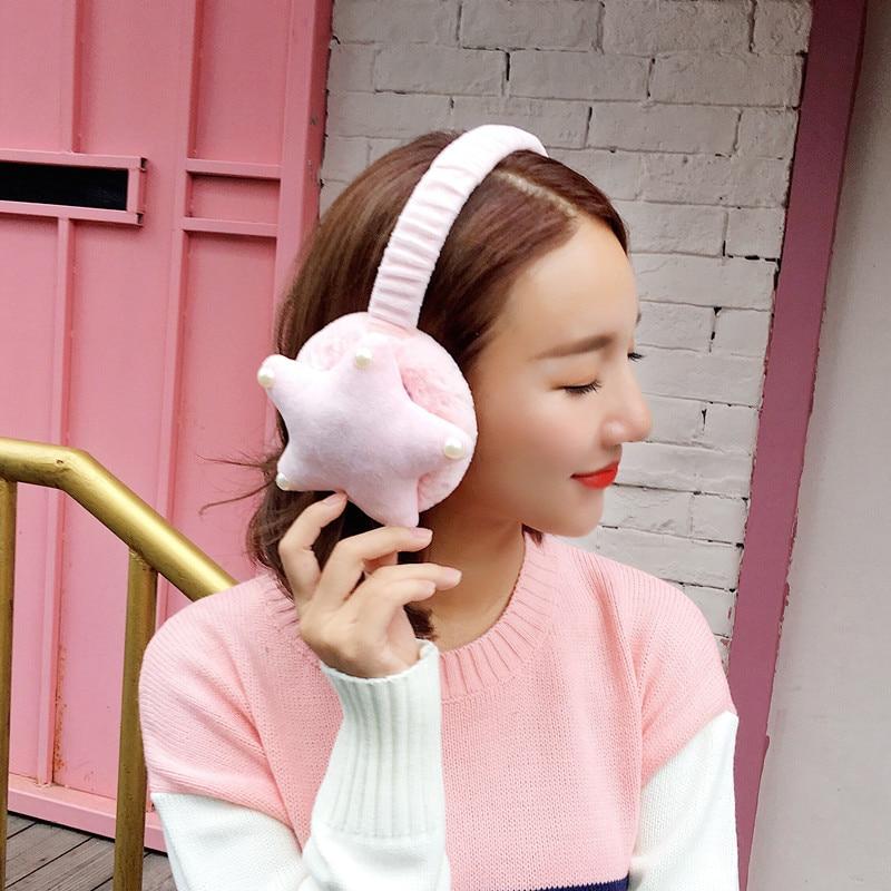 2018 New Cute Cartoon Fur Winter Earmuffs For Women Warm Earmuffs Ear Warmers Gifts For Girls Cover Ears Ear Muff AB340