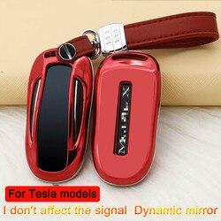 Новый подарок, автомобильный чехол-кошелек с покрытием ABS для ключей, чехол для Tesla, модель X, держатель для ключей, протектор, автомобильные а...