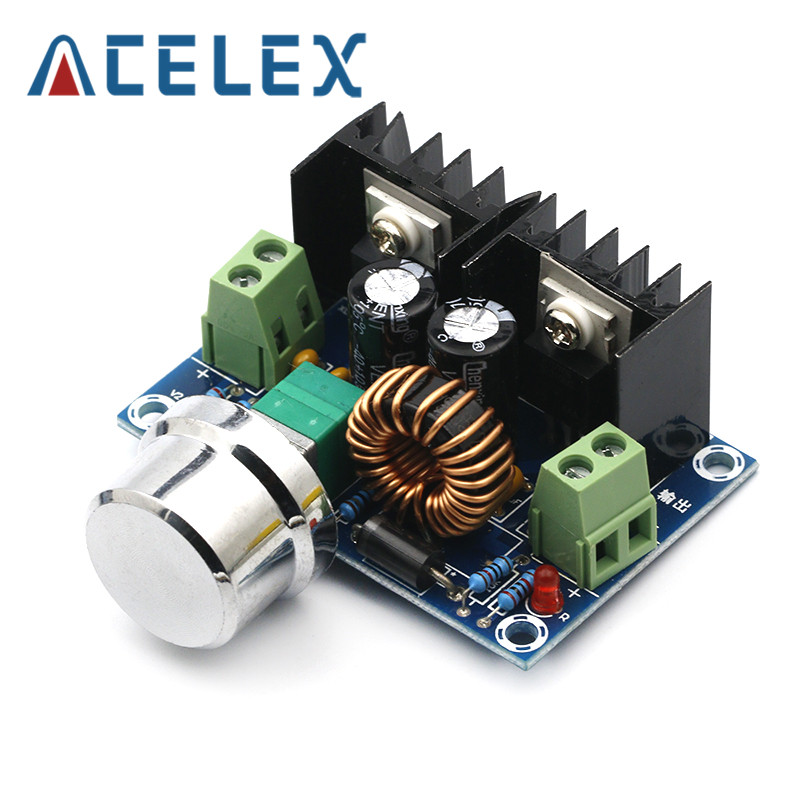 XH M401 DC DC Step Down Buck Converter Power Supply Module XL4016E1 PWM Adjustable 4 40V To 1.25 36V Voltage Regulator 8A 200W|Instrument Parts & Accessories|   - AliExpress