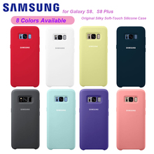 Original Samsung Galaxy S8 S8 Plus Liquid Silicone Case Soft-Touch Silky Protective Cover For Samsung Galaxy S8 S8 Plus cheap Half-wrapped Case Galaxy S8 Plus Plain Waterproof Dirt-resistant Anti-knock