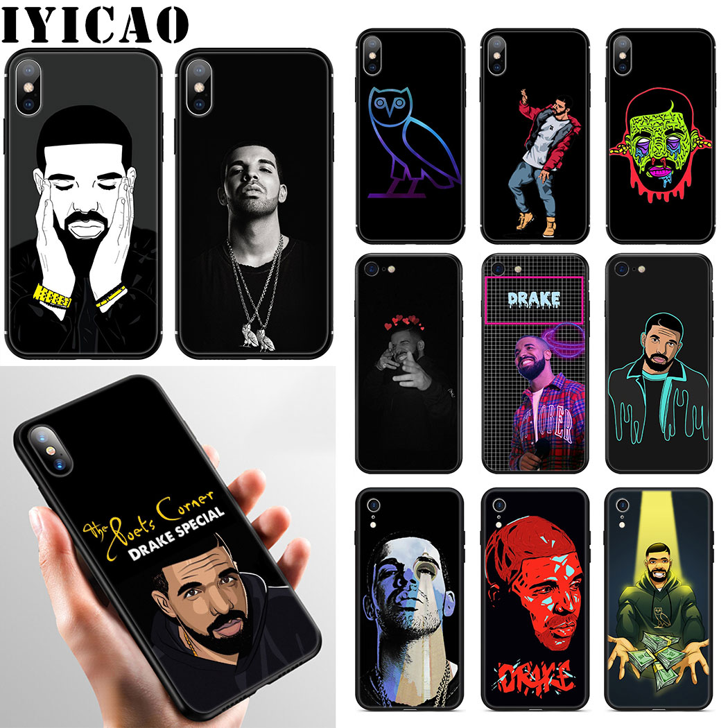 Drake Rapper Soft Silicone Phone Case for iPhone 11 Pro Max XR X XS Max 6 6S 7 8 Plus 5 5S SE Case image