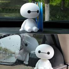 Toys Ornament-Accessories Head-Figure Auto-Interior-Decorations Hero-Doll Baymax Robot
