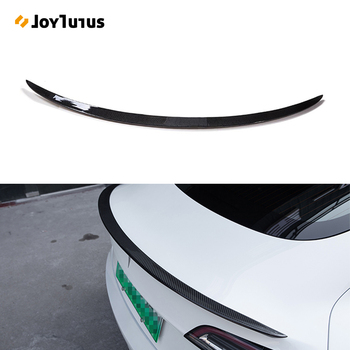 Rear Trunk Spoiler For Tesla Model 3 2017-2019 2020 2021 Rear Trunk Lip Carbon Fiber ABS Wing Spoiler Car Styling real carbon fiber highkick car trunk rear racing spoiler wing lid for 3 series e92 coupe 2006 2013 forged carbon spoilers