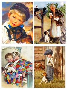 Painting-Portrait Christmas-Gift Diamond New-Products Family-Decoration Embroidered Boy