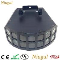 Niugul LED Disco Double Butterfly Light For DJ Club Party/LED Effect Light/DMX512 LED Stage Lamp/DJ Equipments /KTV Disco Lights