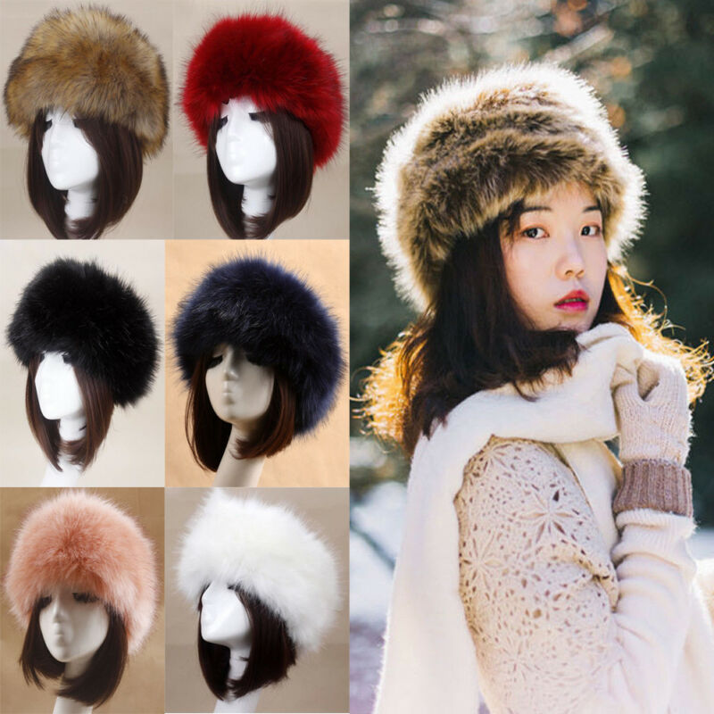 Cap Bomber-Hats Faux-Fur-Hat Winter New Thick Unisex Warm Adult Fluffy