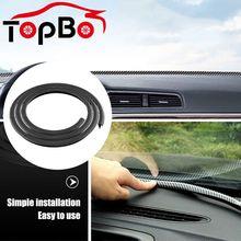 Interior-Accessories Dashboard-Edges Sealing-Strip Car Rubber Carbon-Fiber Noise-Insulation