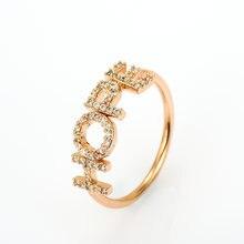 Lateefah циркониевые кольца индивидуальное имя модные Кристальные