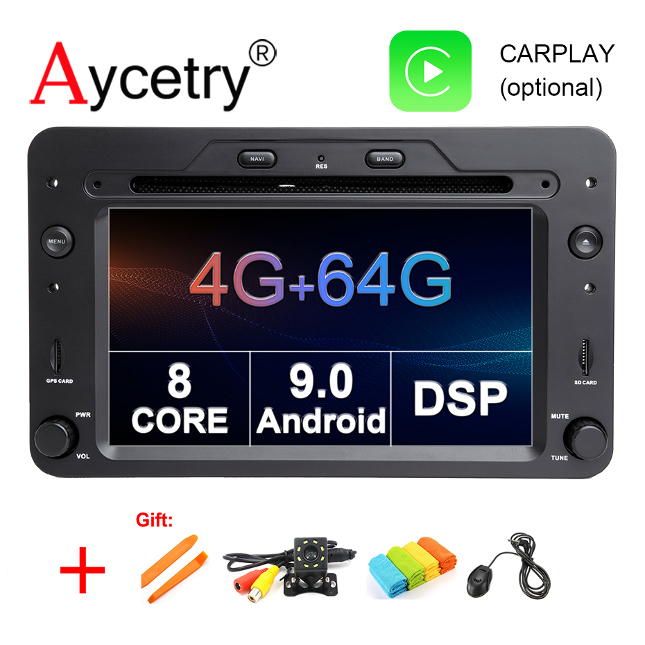 4G 64G DSP 8 CORE Android 9 0 Car Multimedia dvd Player GPS navigation For Alfa