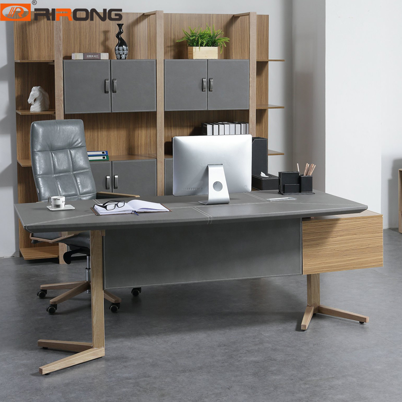 Nordic Design Small Grey Color Office Furniture Set Home Study Table Furniture Wood Laptop Table Executive  Table Desk Set