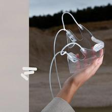 Transparent Protective Face Mask With Lanyard Durable Combine Plastic Reusable Anti-fog Anti-splash Fashion Clear Face Mask