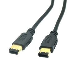 1m 1.5m 3m 5m Cabo IEEE 1394 1394a 6pin Macho para 6-6 6 pinos Macho pin iLink Firewire DV Cabo de Conexão de Alta Qualidade 1.5m 4FT